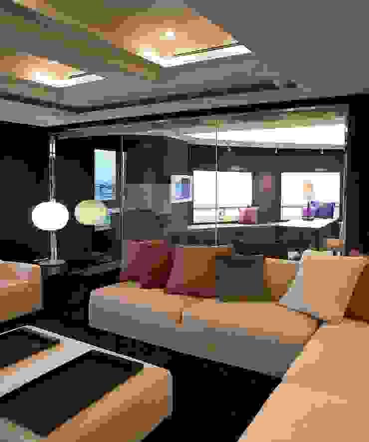 客廳與書房 台中室內建築師|利程室內外裝飾 LICHENG Living room