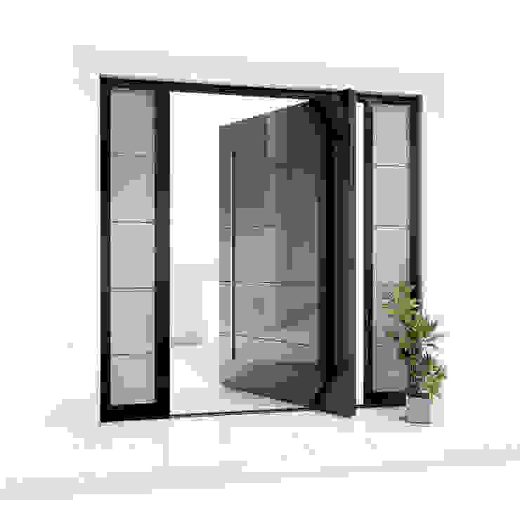 RK Pivot Door with black glass RK Exclusive Doors Glass doors Aluminium/Zinc Black