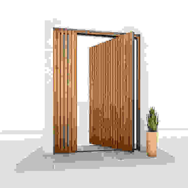 RK Pivot Door with wood effect RK Exclusive Doors Wooden doors Aluminium/Zinc Wood effect