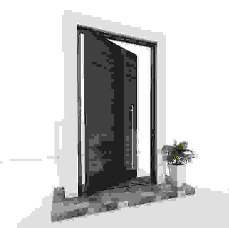 RK Pivot Door with wood effect glass RK Exclusive Doors Glass doors Aluminium/Zinc Wood effect