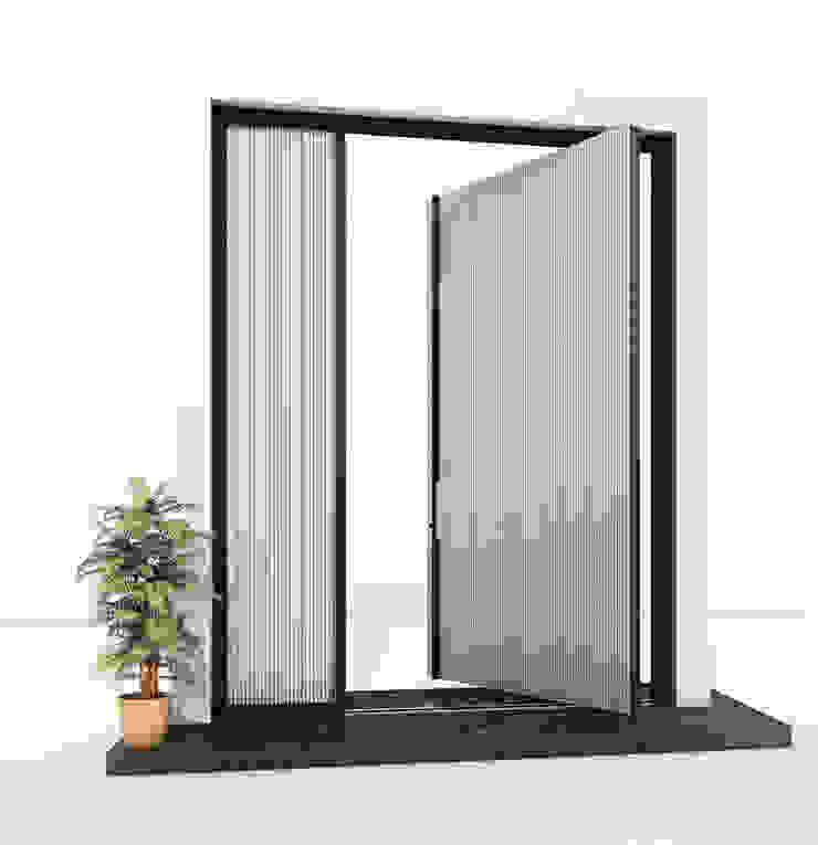 RK Pivot Door with concrete imitation RK Exclusive Doors Front doors Aluminium/Zinc Grey