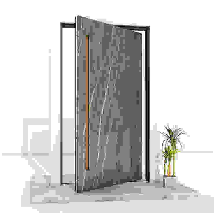 RK Pivot Door with sintered quartz - ceramics RK Exclusive Doors Front doors Aluminium/Zinc Amber/Gold