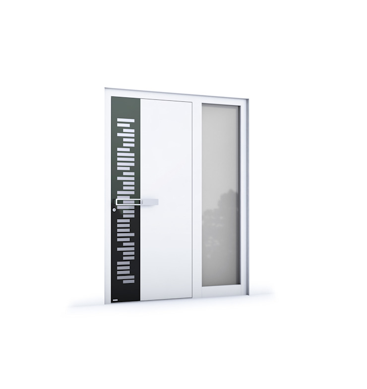 RK Exclusive Doors - Model RK 3000 RK Exclusive Doors Puertas modernas Aluminio/Cinc Blanco