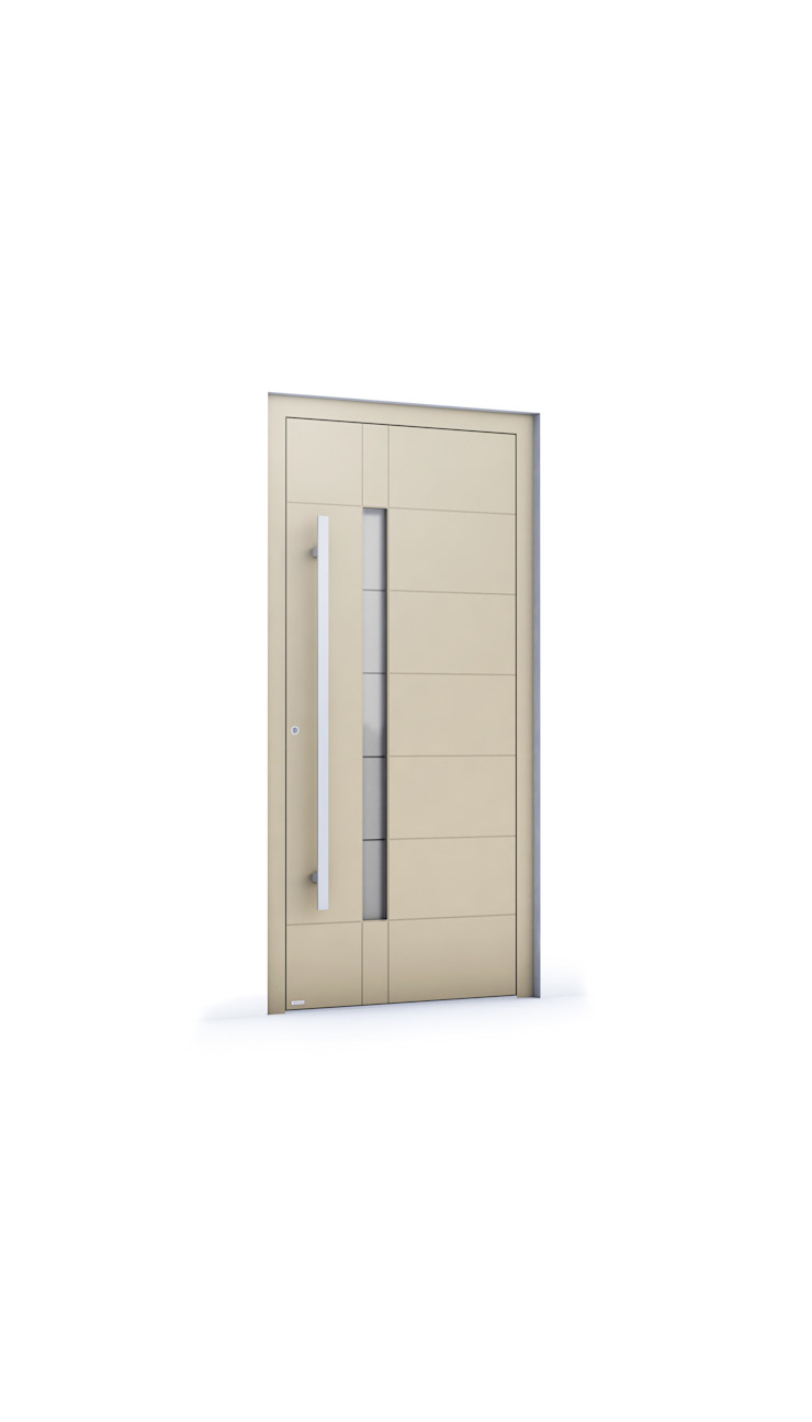 RK Exclusive Doors - Model RK 4020 RK Exclusive Doors Puertas modernas Aluminio/Cinc Beige