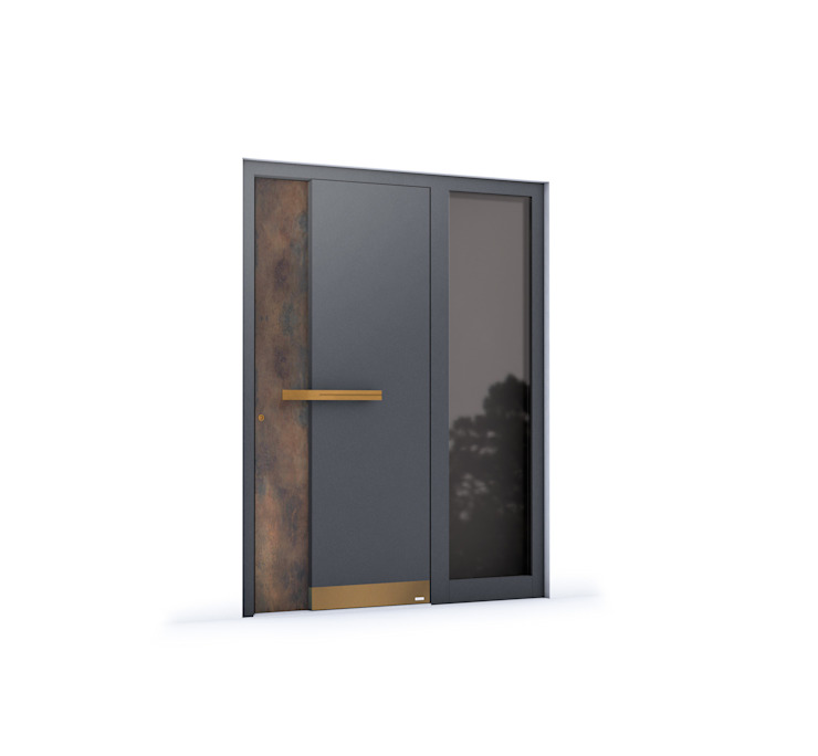 RK Exclusive Doors - Model RK 35180 RK Exclusive Doors Puertas de entrada Aluminio/Cinc Marrón