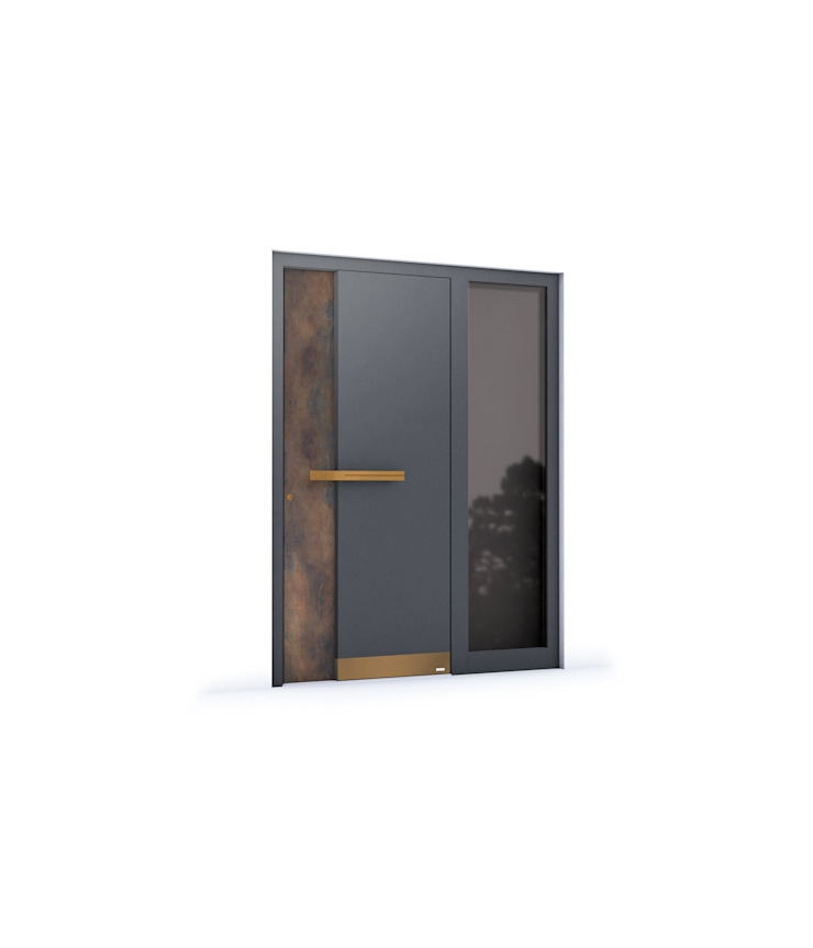 RK Exclusive Doors - Model RK 5180 RK Exclusive Doors Puertas de entrada Aluminio/Cinc Gris
