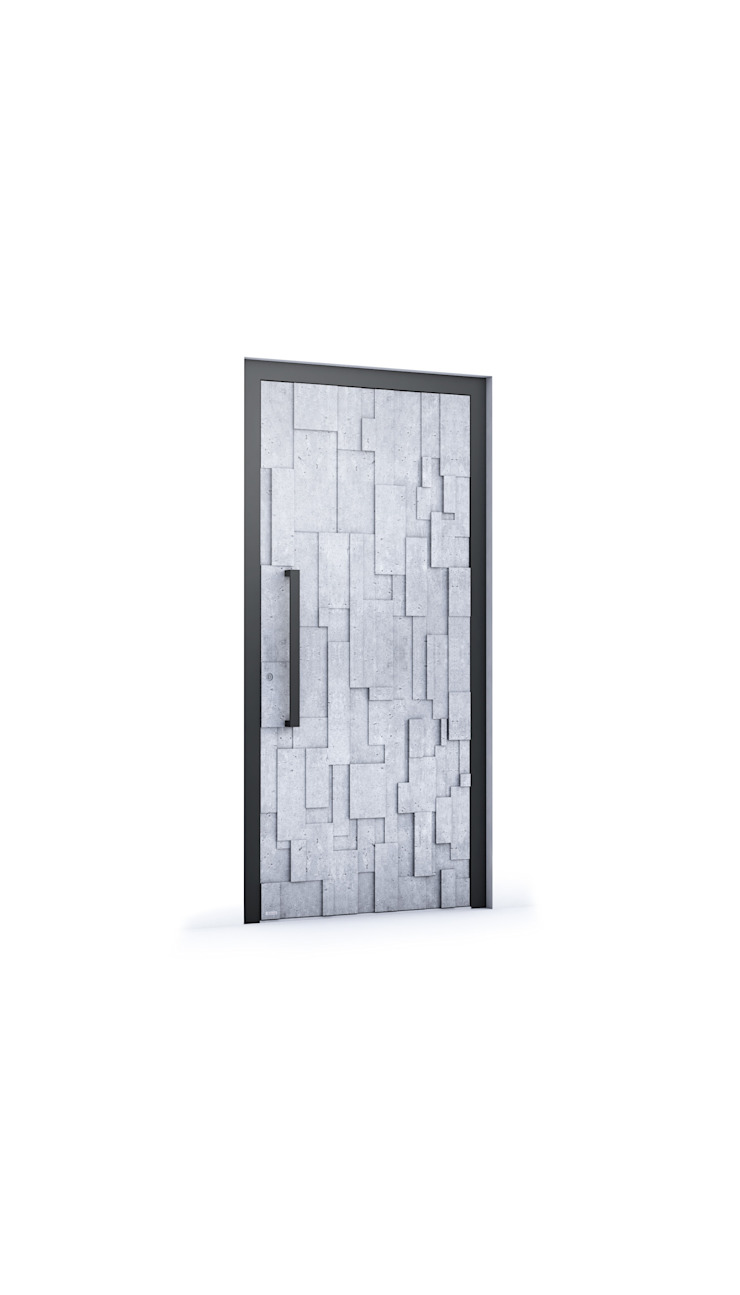 RK Exclusive Doors - Model RK 6080 RK Exclusive Doors Puertas modernas Aluminio/Cinc Gris