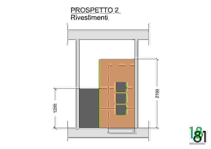 Studio compositivo dei rivestimenti di Arch. Sara Pizzo - Studio 1881 Moderno