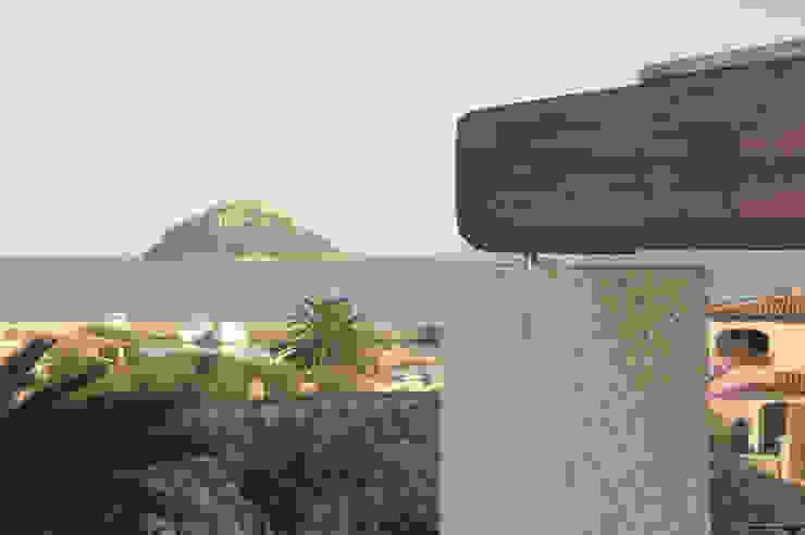 Architetto Alessandro spano Varandas, alpendres e terraços mediterrâneo