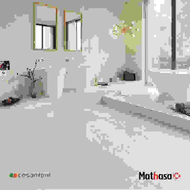 PISO GRES - BARDI Mathasa Baños minimalistas Cerámico Blanco