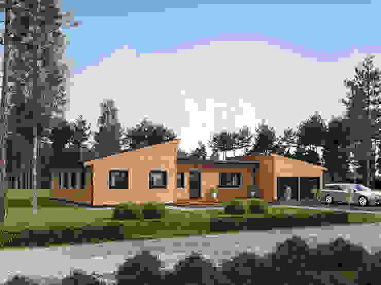 THULE Blockhaus GmbH - Ihr Fertigbausatz für ein Holzhaus Chalets & maisons en bois Bois Marron