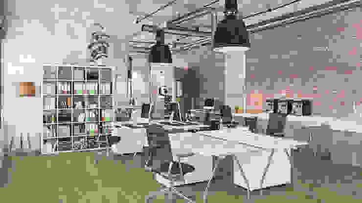 Floorwell Bureau industriel Bois Effet bois