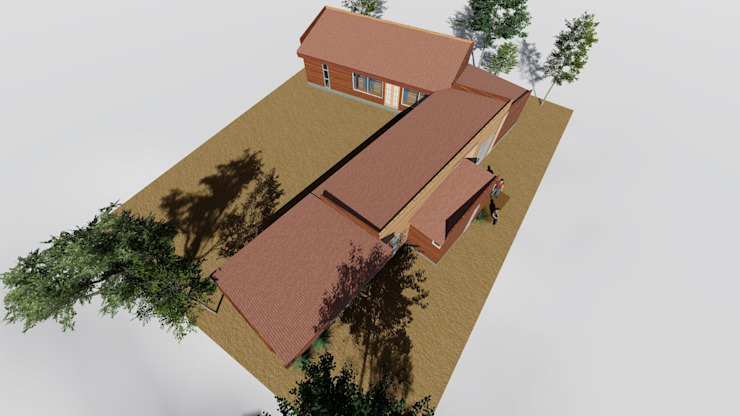 Casa Containers Nave + Arquitectura & Modelación Paramétrica Casas de estilo rural