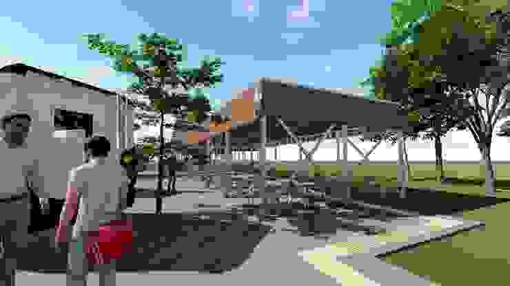 Patio de Comidas Foodtruck Universidad Católica del Maule Nave + Arquitectura & Modelación Paramétrica Casas estilo moderno: ideas, arquitectura e imágenes