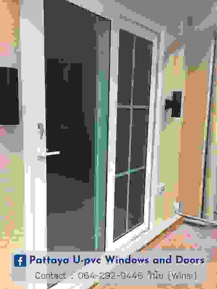 โรงงาน พัทยา กระจก ยูพีวีซี Pattaya UPVC Windows & Doors Sliding doors Plastic White