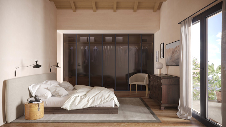 Casa S - camera matrimoniale locatelli pepato Camera da letto moderna Legno Beige