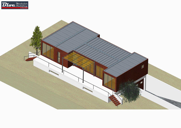Modelo BLOC Family T2 | 120 m2 área coberta BLOC - Casas Modulares Casas pré-fabricadas