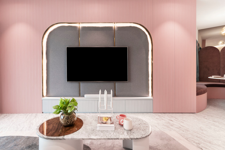 Luxe Au Pastel Mr Shopper Studio Pte Ltd Modern living room