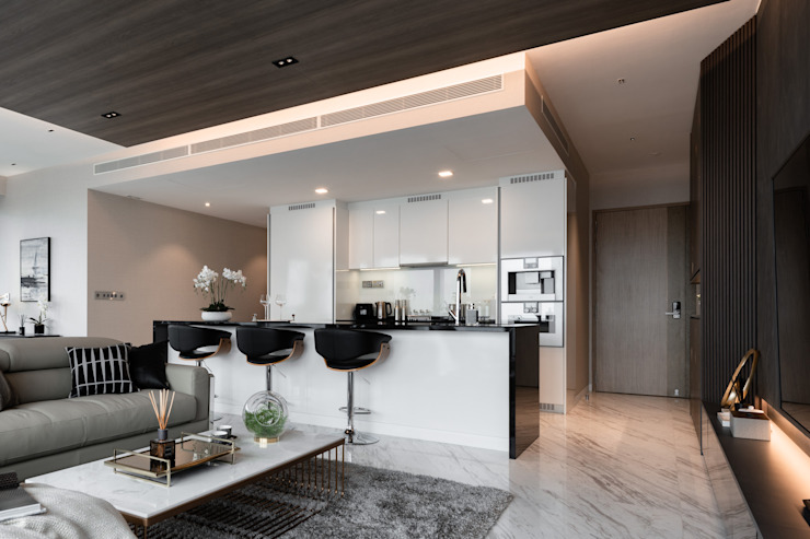 Wallich Residence Mr Shopper Studio Pte Ltd Modern kitchen