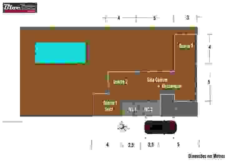 Modelo BLOC LÍNEA 81m2 área coberta | Casas modulares BLOC - Casas Modulares Casas pequenas