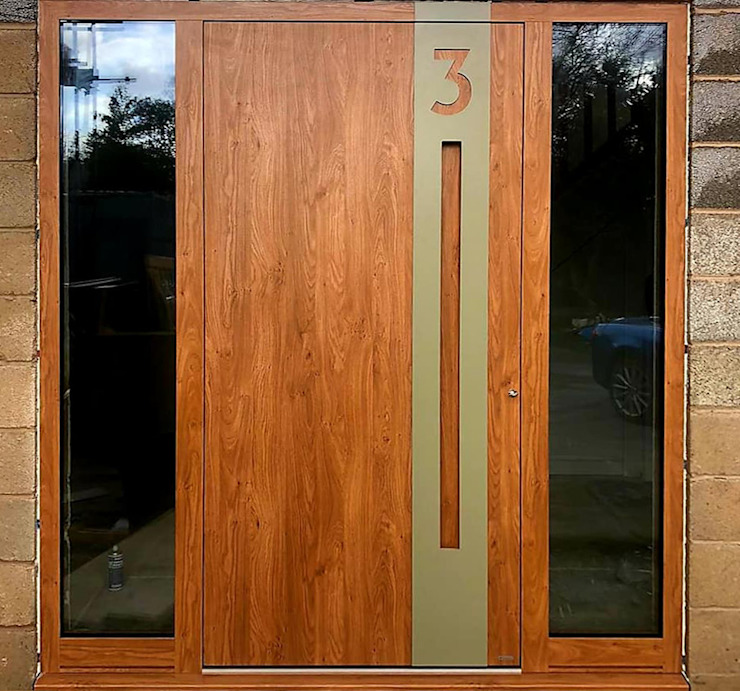 RK Exclusive Doors Modern style doors Aluminium/Zinc Wood effect