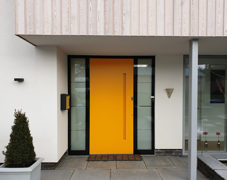 RK Exclusive Doors Modern style doors Aluminium/Zinc Yellow