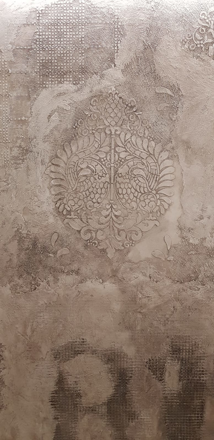 Dettaglio decorativo parete materica di viemme61 Classico