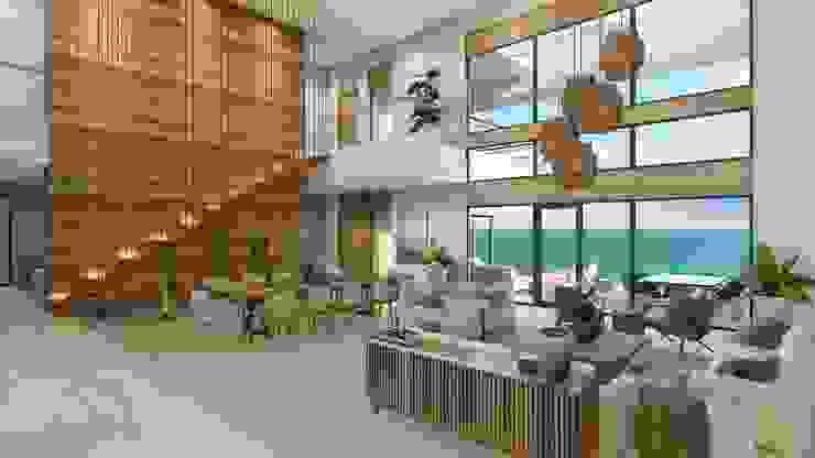 Área social Salones modernos de Merarki Arquitectos Moderno