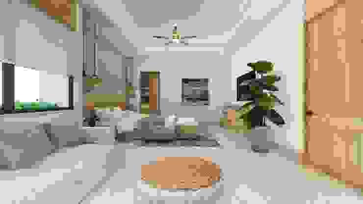 Recamara principal 01 Dormitorios modernos de Merarki Arquitectos Moderno