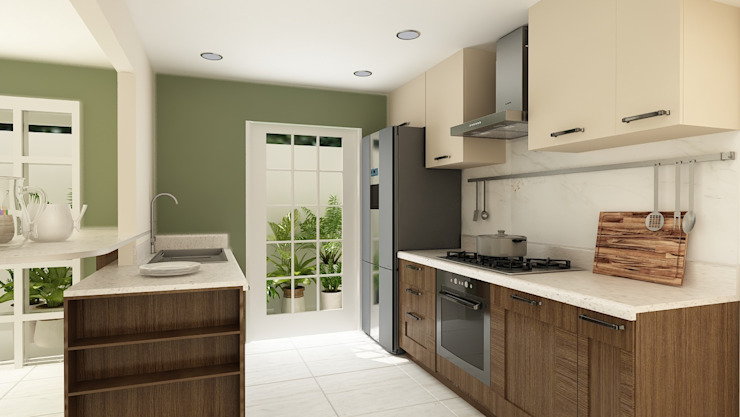 Modern Kitchen by Soma & Croma Modern Wood Wood effect