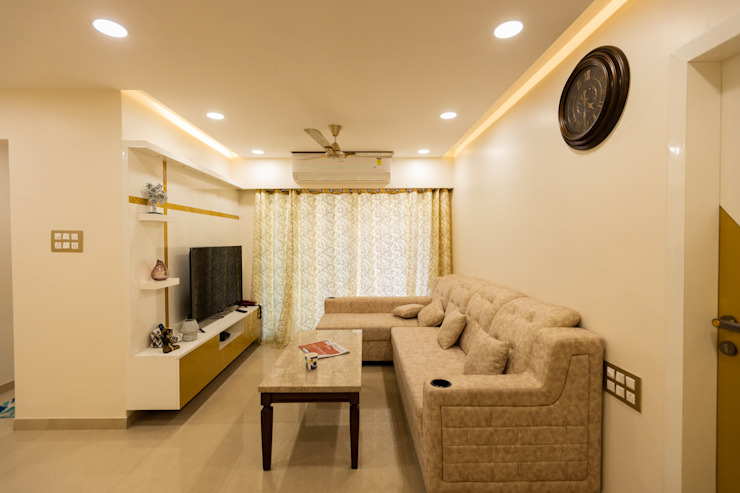 The Golden Touch Modern living room by The 7th Corner Interior Modern Plywood