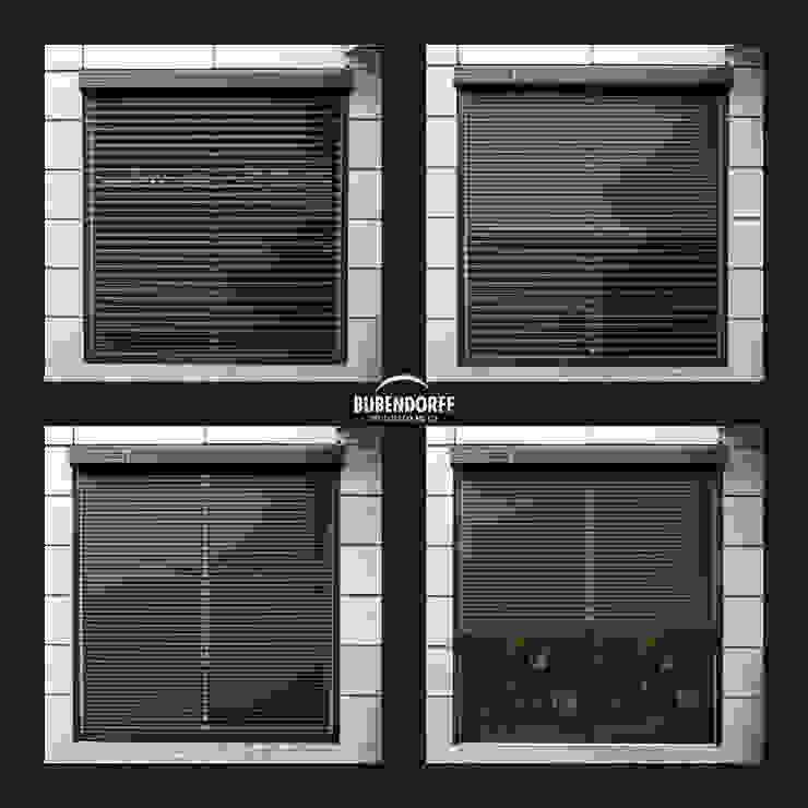 Inteligentne Rolety Bubendorff Pintu & Jendela Modern Aluminium/Seng