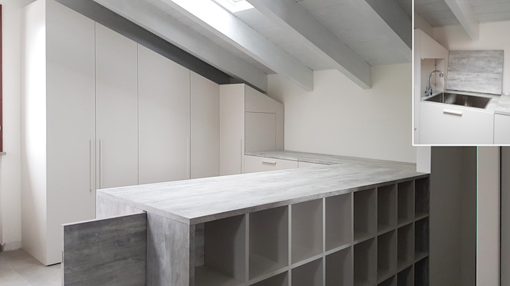 LAVANDERIA ELEGANTE E FUNZIONALE CC-ARK - SERENA&VALERIA Studio moderno