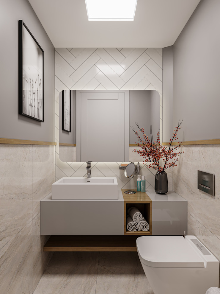 Çalık Konsept Mimarlık – WC, Tuvalet: modern tarz , Modern