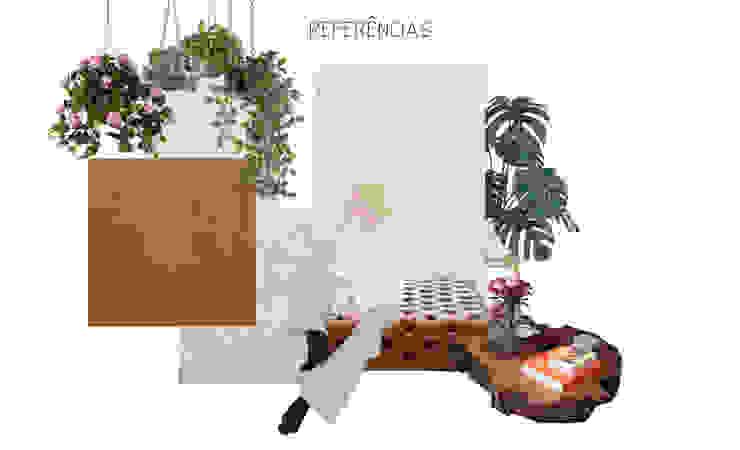 Moodboard decoração - conceito de apartamento moderno e aconchegante Salas de estar modernas por Mirá Arquitetura Moderno Pedra