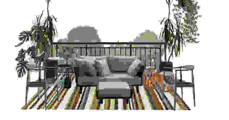 Varanda moderna e aconchegante por Mirá Arquitetura Moderno Madeira Efeito de madeira