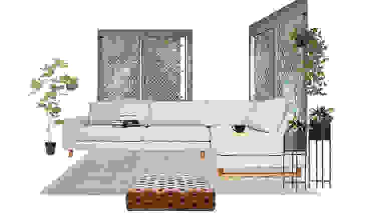Sala TV moderna, minimalista, aconchegante e com toque clássico Mirá Arquitetura Salas de estar modernas Madeira Branco