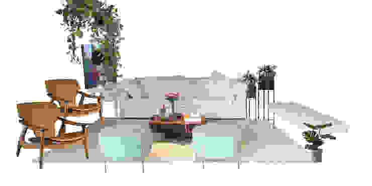 Sala de estar moderna, minimalista e com muito design Salas de estar modernas por Mirá Arquitetura Moderno Madeira Efeito de madeira