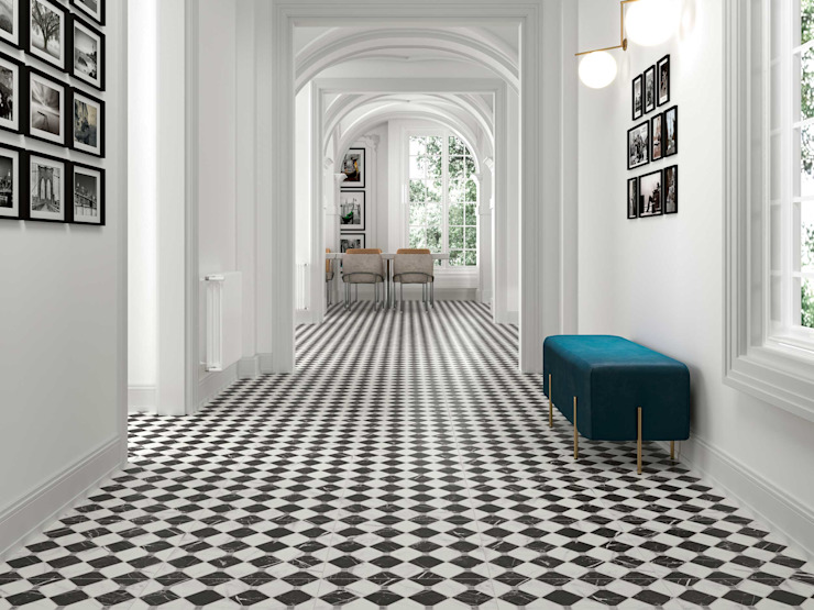 艾林達 美利德有限公司 現代風玄關、走廊與階梯