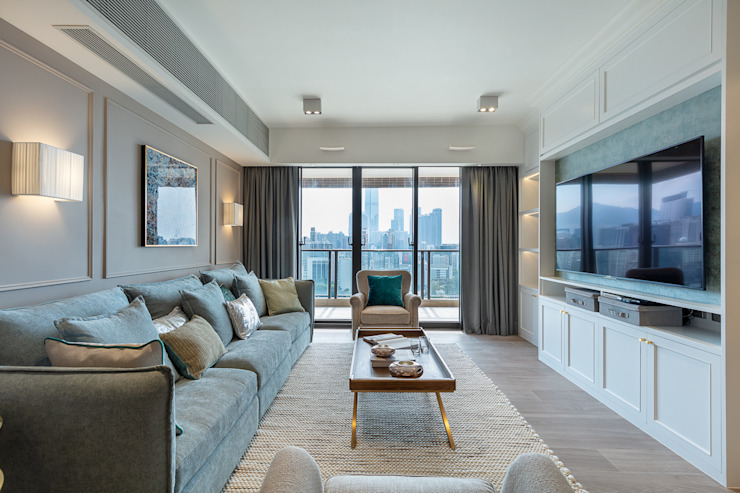 Sense of Romance—Wylie Court, Hong Kong Classic style living room by Grande Interior Design Classic