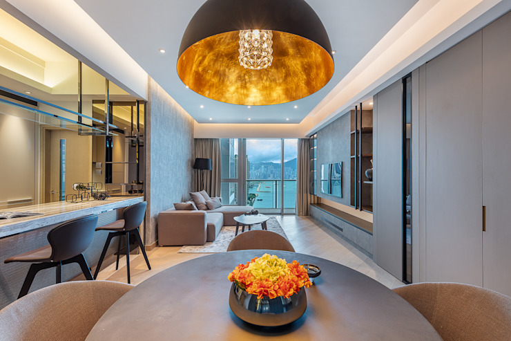 A Boutique Living Area for a Family of Four - Cullinan West, Hong Kong Modern dining room by Grande Interior Design Modern