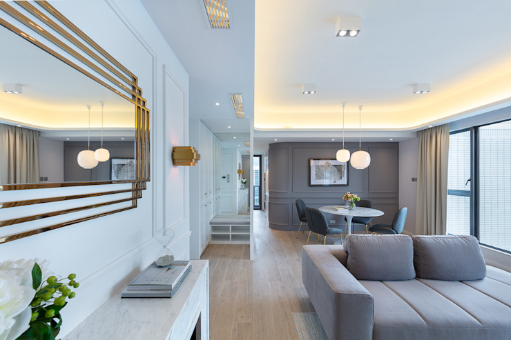 Celeste and the Sea - Alto Residences, Hong Kong Classic style living room by Grande Interior Design Classic