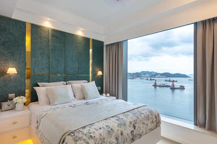 Celeste and the Sea—Alto Residences, Hong Kong Classic style bedroom by Grande Interior Design Classic