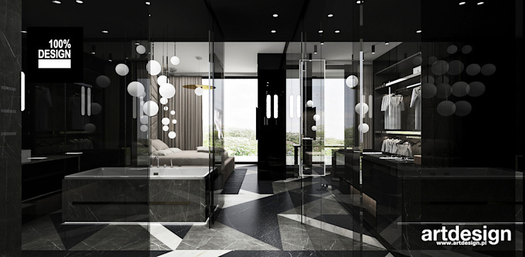 ARTDESIGN architektura wnętrz Baños de estilo moderno