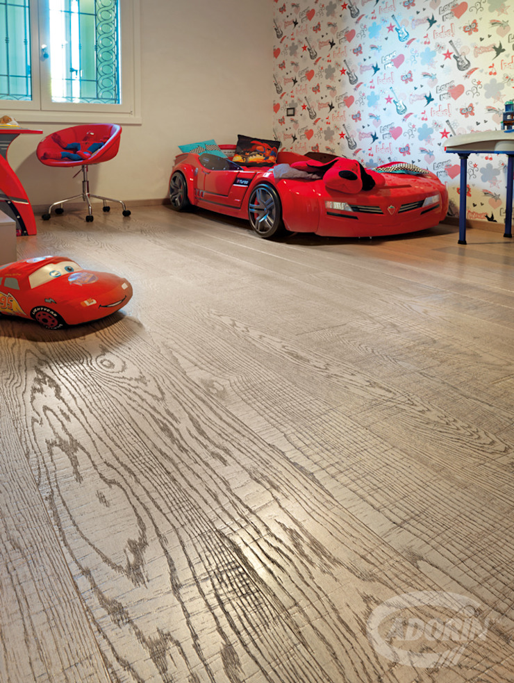 Parquet—Bathroom and Kid's Room Cadorin Group Srl - Italian craftsmanship production Wood flooring and Coverings Modern Kid's Room