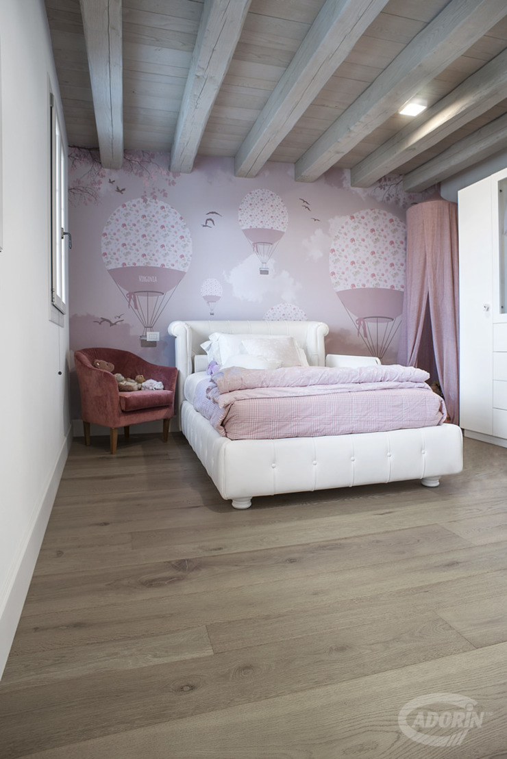 Parquet—Bathroom and Kid's Room Cadorin Group Srl - Italian craftsmanship production Wood flooring and Coverings Modern Bedroom
