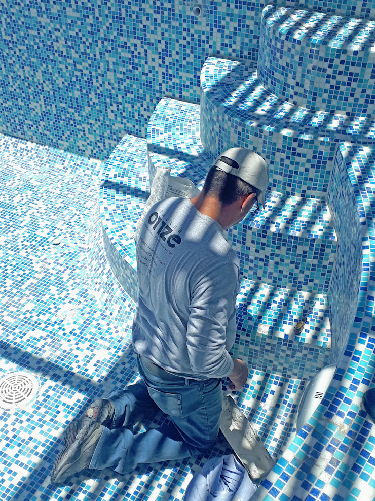 Taller Onze Piscinas de jardín Azulejos Azul