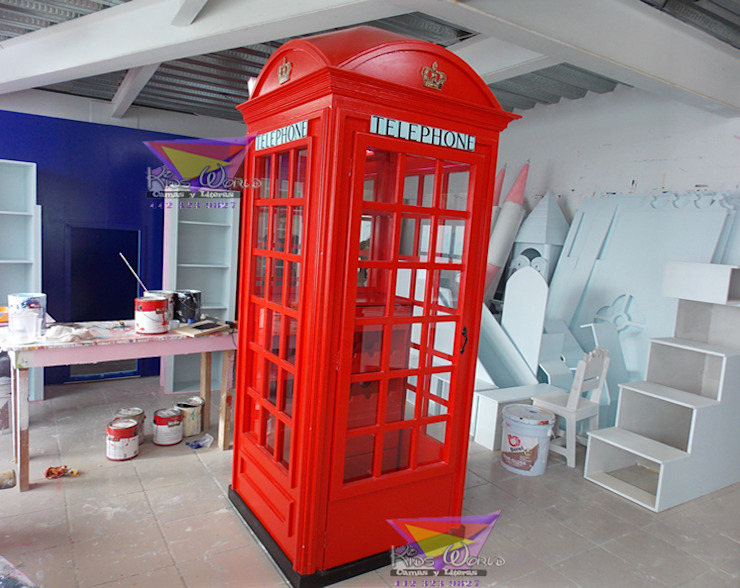Cabina Inglesa de Kids Wolrd- Recamaras Literas y Muebles para niños Clásico Derivados de madera Transparente