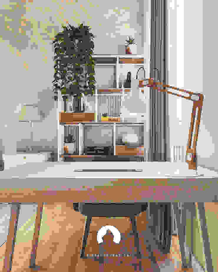 Spazio - Ristrutturazioni Modern Study Room and Home Office Beige