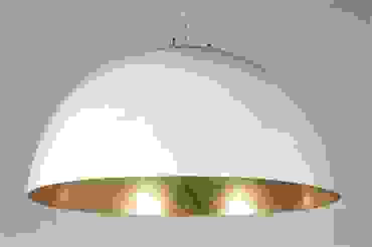 Hanglamp wit/goud Ø 70cm van Woodlovesyou&more Eclectisch Kunststof